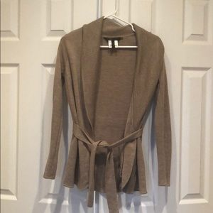 BCBG sweater/cardigan. Camel color